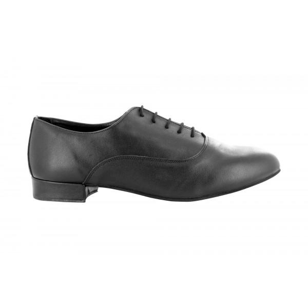 Klassisk sort dansesko for herre, høy kvalitet, 2.5 cm hæl