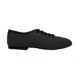 Sporty sort herresko i mønstervevet tekstil med DRS såle, 1 cm hæl, meget fleksibel.