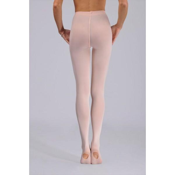 Ballettstrømpebukser i mikrofiber, hull under foten, rosa