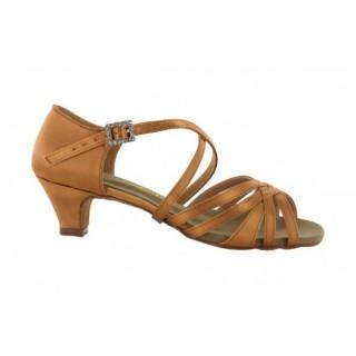 Lys brun dansesko med 3.5 cm hæl, fra nr. 29 til 41