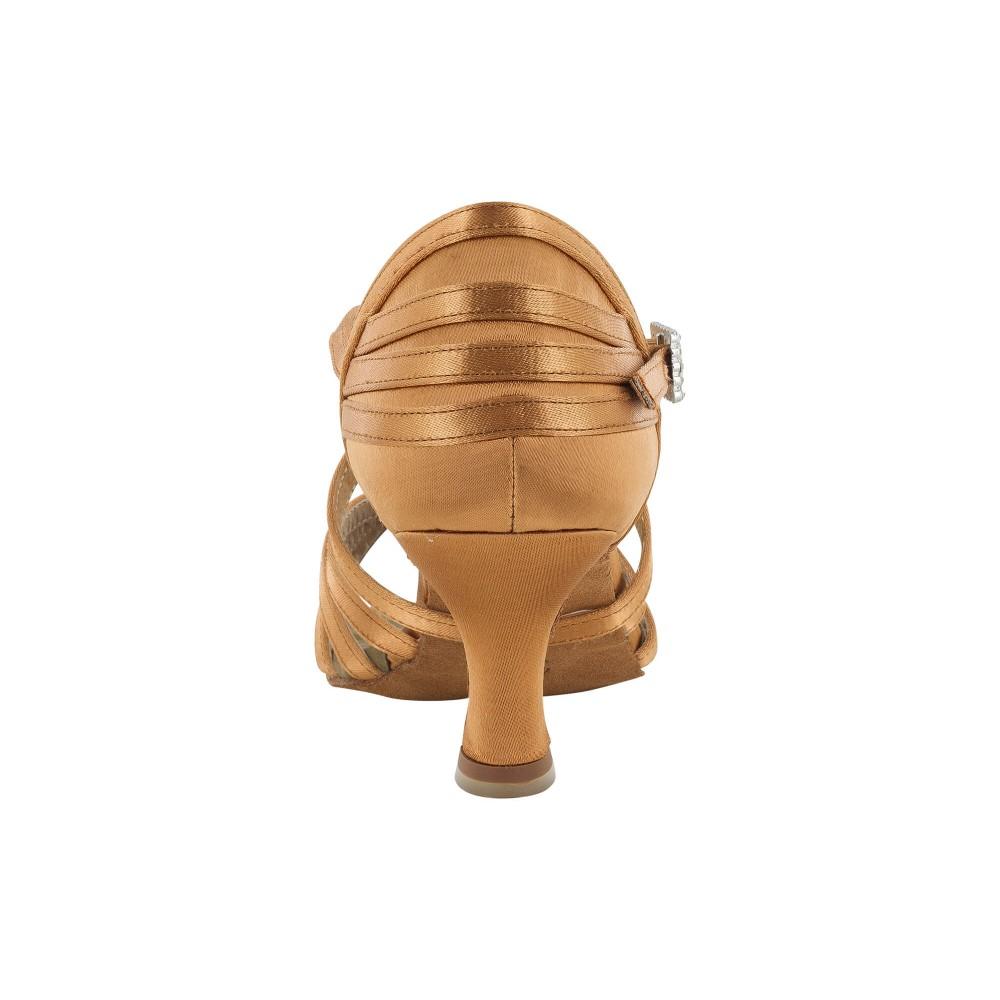 Sort satengsko med knute foran, 5.5 cm hæl, fleksibel såle
