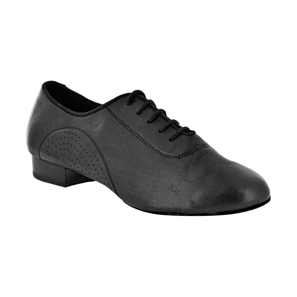 Jazzsko i sort fløyel skinn med DRS såle, 1 cm hæl